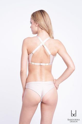 Classic High Cut Bottoms - Champagne-Bandurska-Pole Junkie