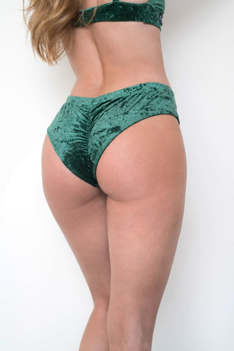 Peru Velvet Shorts - Green-RAD-Pole Junkie