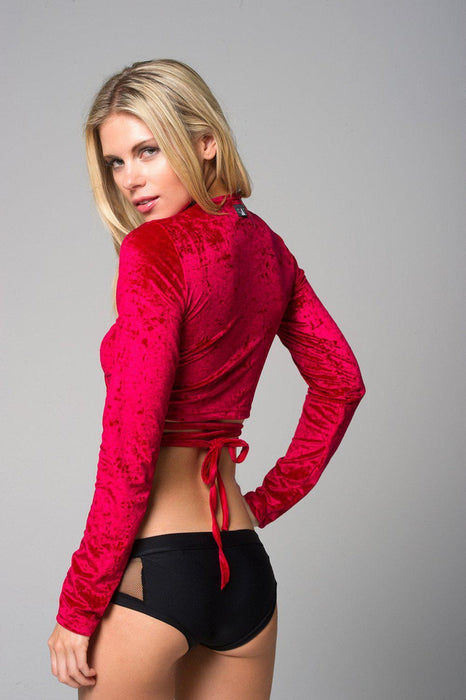 Ballet Cardigan - Red-RAD-Pole Junkie