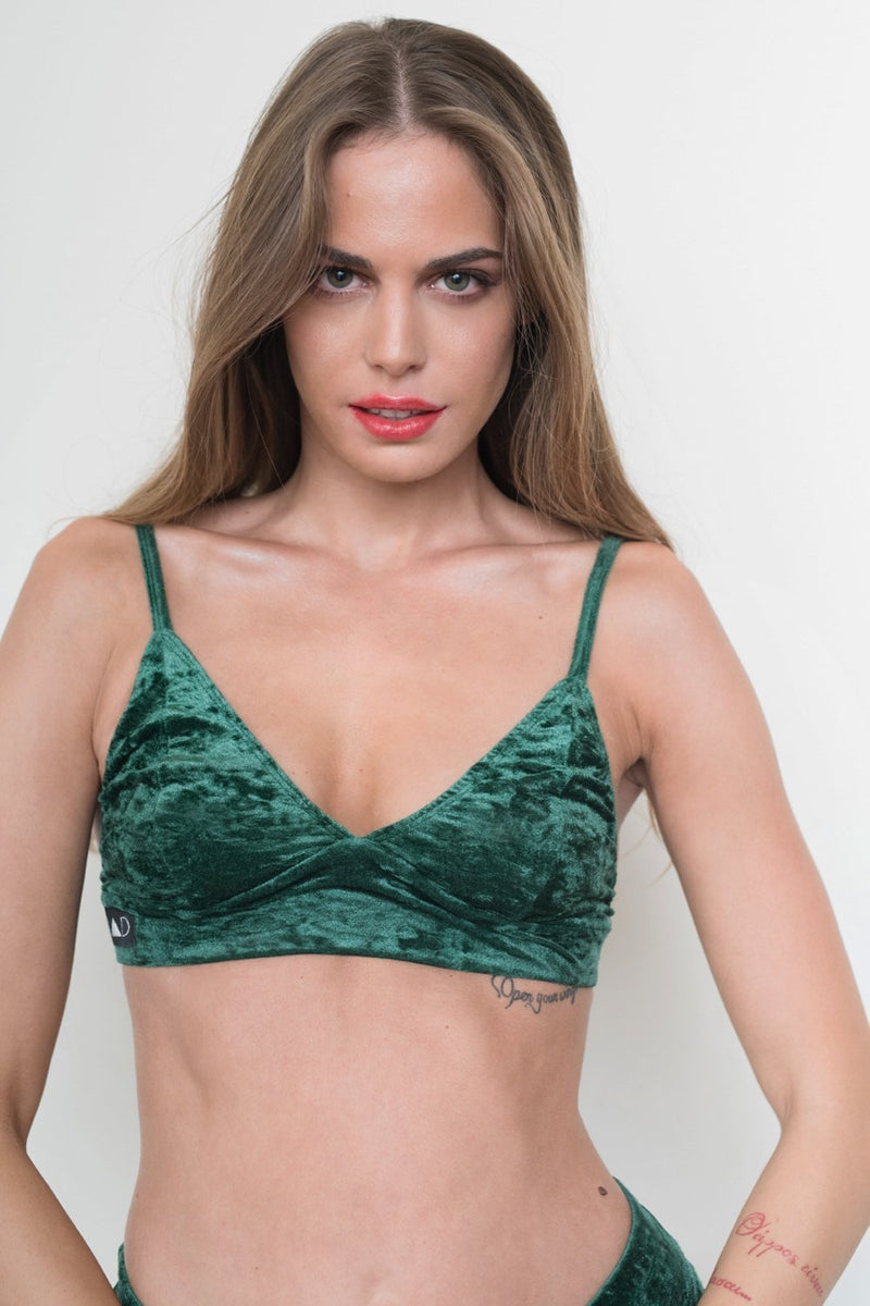 RAD Monica Velvet Top - Green-RAD-Pole Junkie