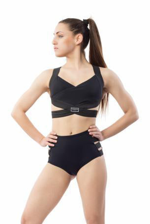Paradise Chick Cross Band Top - Black-Paradise Chick-Pole Junkie