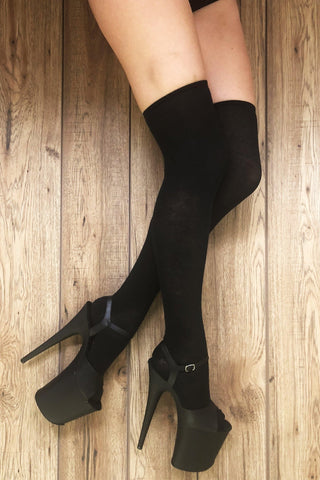 Over the Knee Socks - Black (3 Sizes)-Rolling-Pole Junkie
