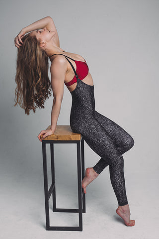 Sling Leggings - Black Swirl-Shark Polewear-Pole Junkie