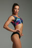 Doublesided Top - Blue Fern/Black-Shark Polewear-Pole Junkie