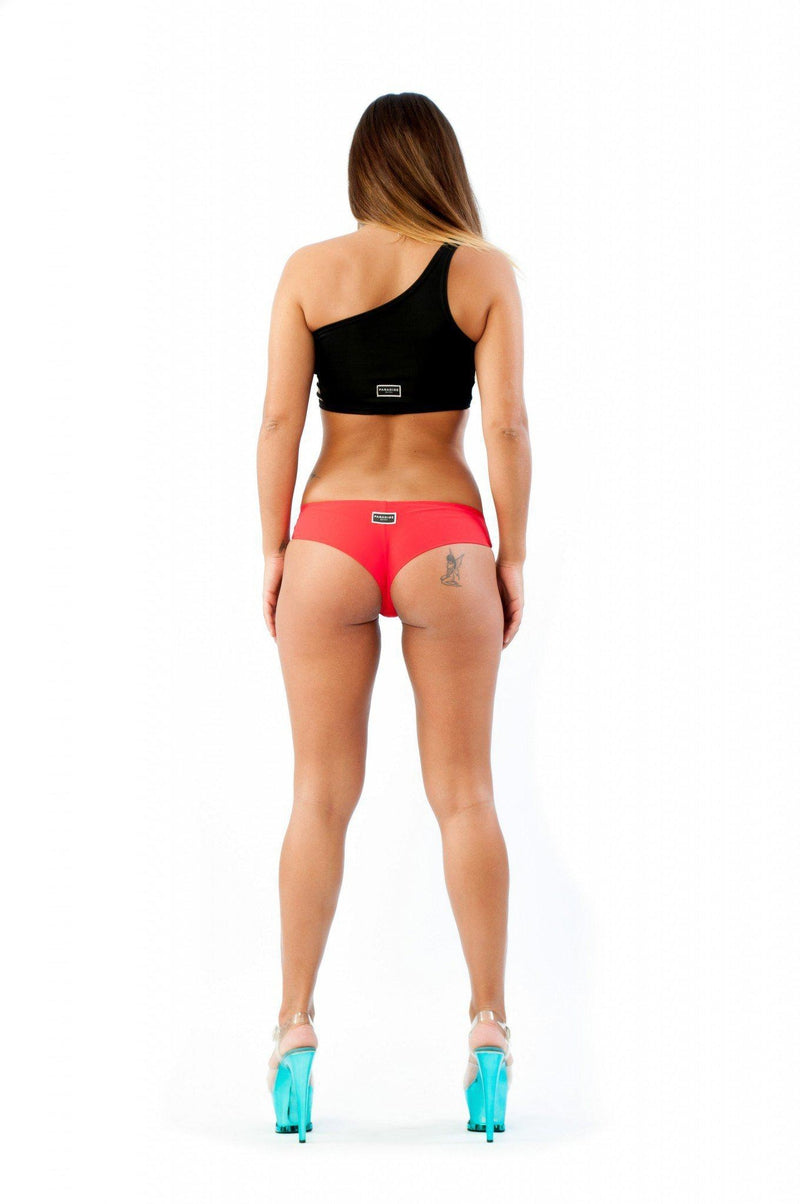 Paradise Chick Brazilian Shorts - Red-Paradise Chick-Pole Junkie