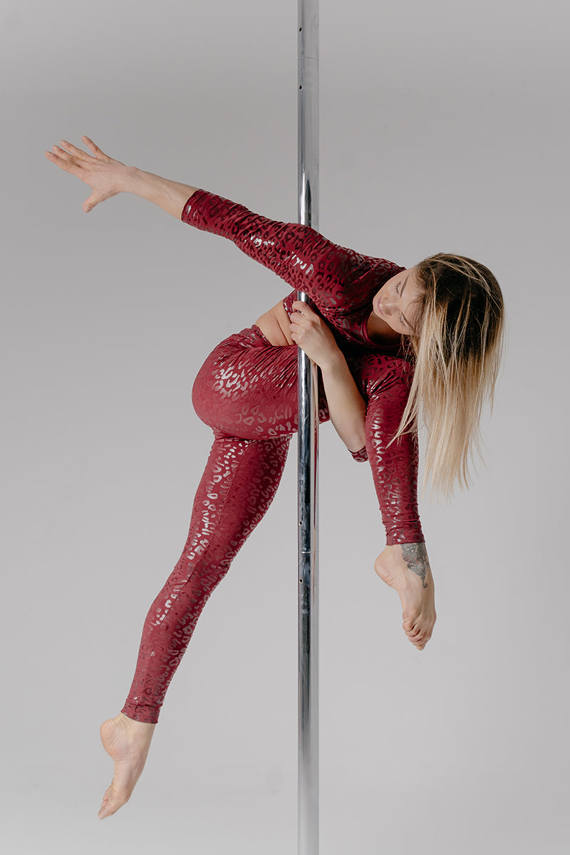 Paradise Chick Superhero Series Sticky Leggings - Cherry Leopard-Paradise Chick-Pole Junkie
