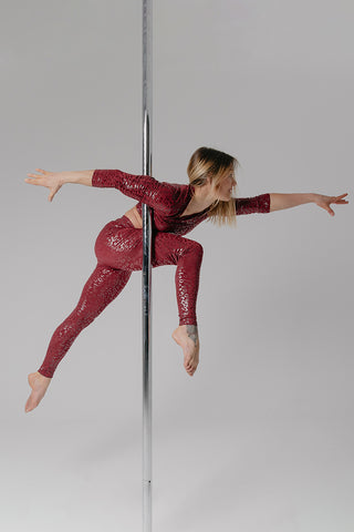 Superhero Sticky Top - Cherry Leopard-Paradise Chick-Pole Junkie