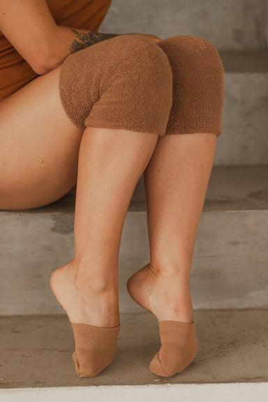 Rolling Contemporary Dance Socks - Caramel-Rolling-Pole Junkie