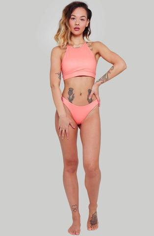 Selene Halter Top - Peach-Creatures of XIX-Pole Junkie