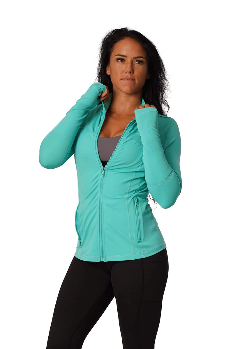Off The Pole Iconic Jacket - Aqua-Off The Pole-Pole Junkie