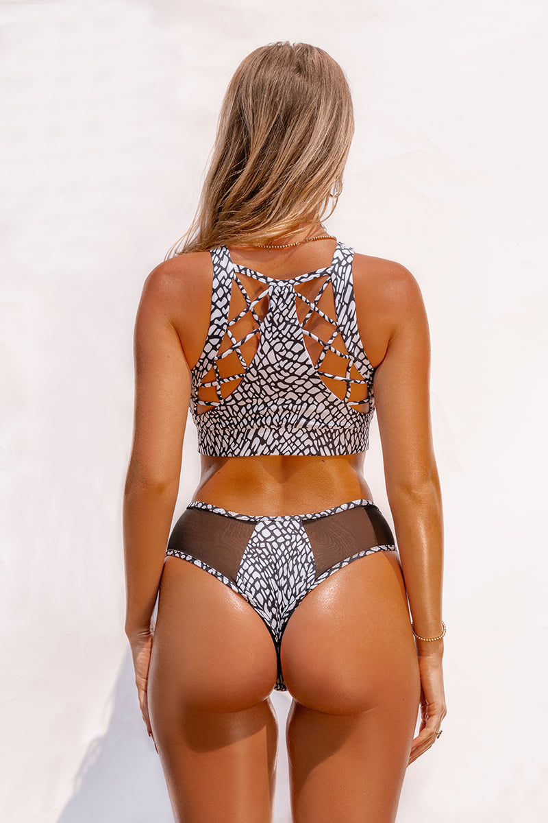 Creatures of XIX SAFARI Cheeky Bottoms - Elephant Print-Creatures of XIX-Pole Junkie