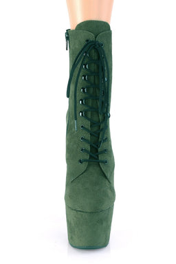 Adore-1020FS Faux Suede 7Inch Pleaser Boots - Emerald Green-Pleaser USA-Pole Junkie