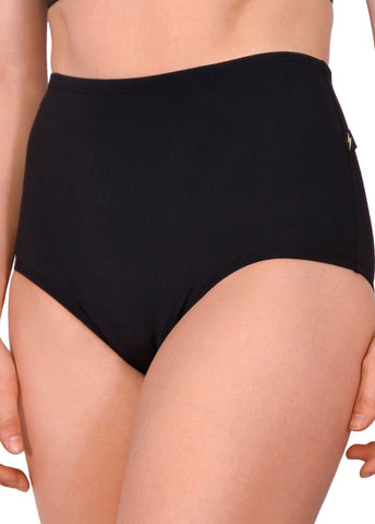 Essential High Waisted Shorts - Black-Cleo the Hurricane-Pole Junkie