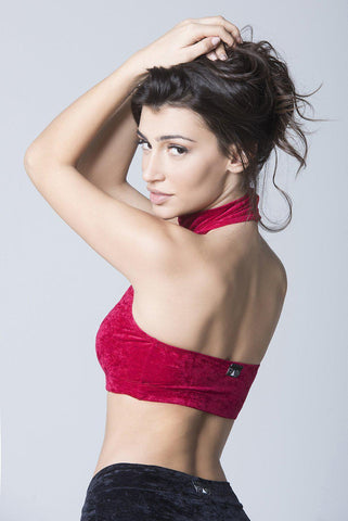 Velvet Eve Top - Red-RAD-Pole Junkie
