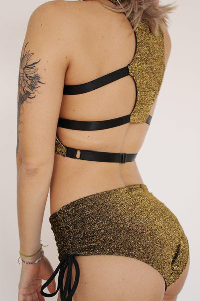 Charm Shorts - Gold-Sorte-Pole Junkie