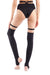 Hamade Activewear O-Ring Over the Knee Stirrup Legwarmers - Black-Hamade Activewear-Pole Junkie