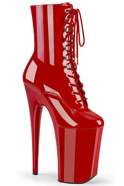 Pleaser USA Infinity-1020 9inch Pleaser Boots - Patent Red-Pleaser USA-Pole Junkie