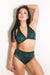 Tatiana Activewear Isla Top - Forest Green-Tatiana Activewear-Pole Junkie