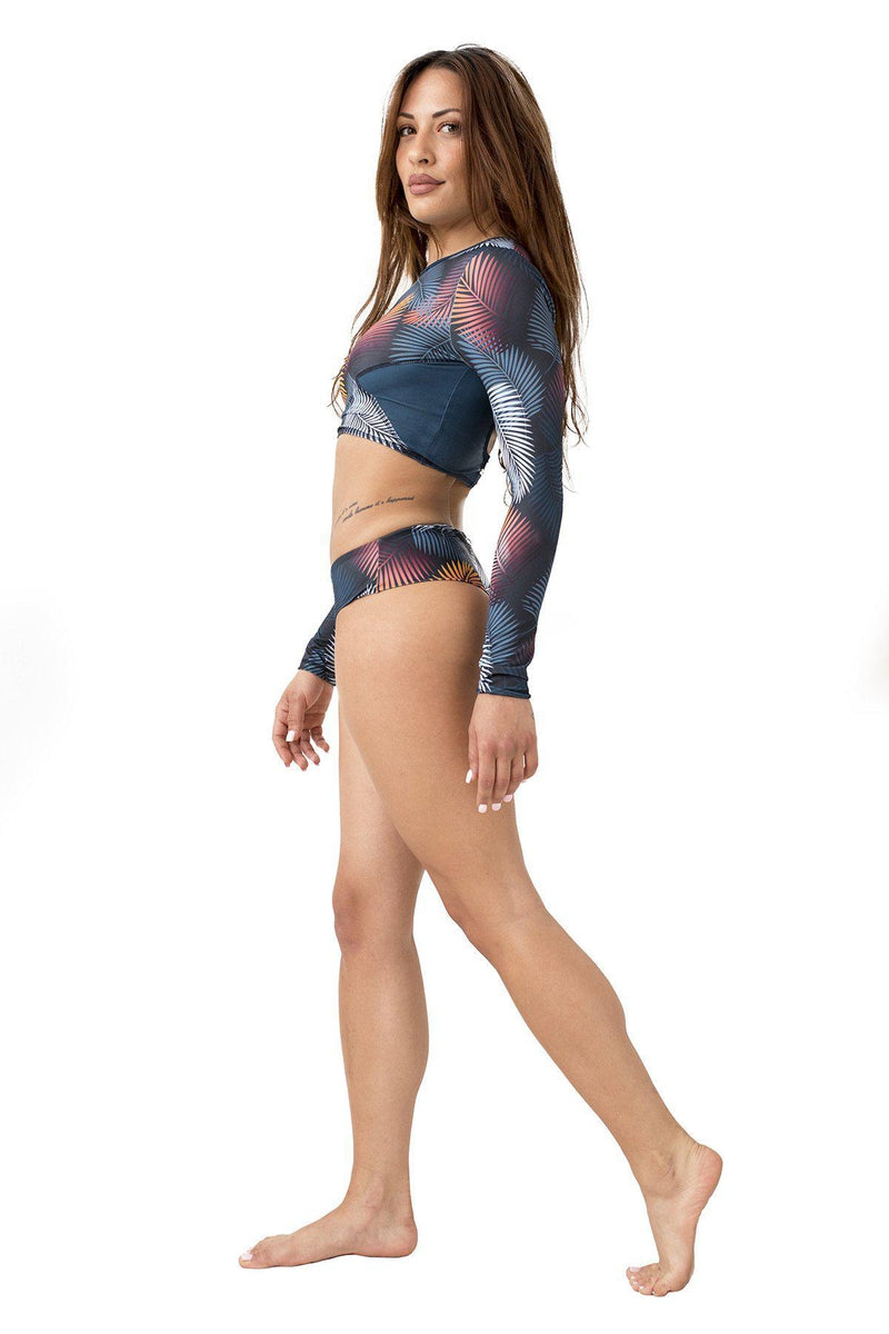 Paradise Chick Long Sleeve Top - Tropical-Paradise Chick-Pole Junkie