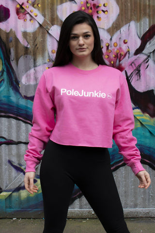 Pole Junkie Cropped Sweatshirt - Cotton Candy-Pole Junkie-Pole Junkie