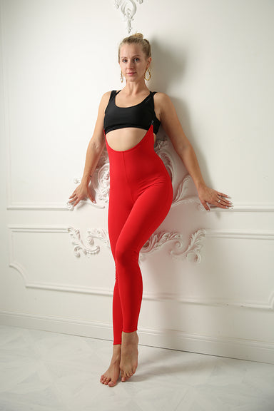 Sling Leggings - Red-Shark Polewear-Pole Junkie