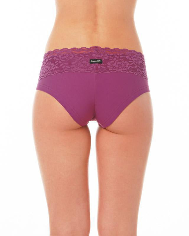 Dragonfly Lace Edition Mia Shorts - Ruby-Dragonfly-Pole Junkie