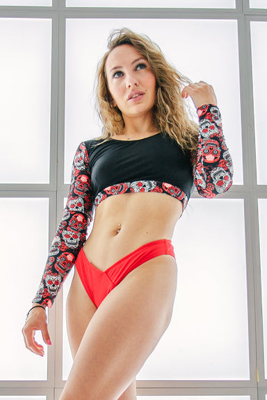 Shark Polewear Angle Shorts - Red-Shark Polewear-Pole Junkie