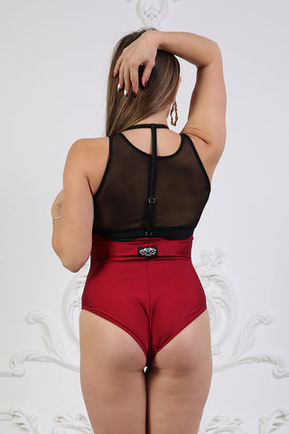 Sling Shorts - Wine-Shark Polewear-Pole Junkie