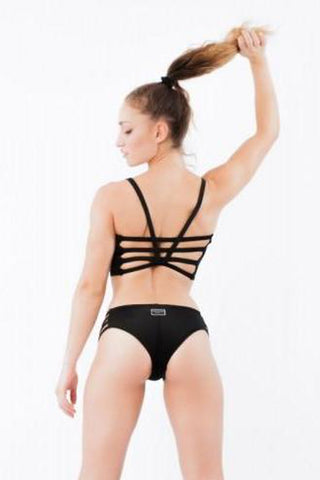 Strappy Top - Black-Paradise Chick-Pole Junkie