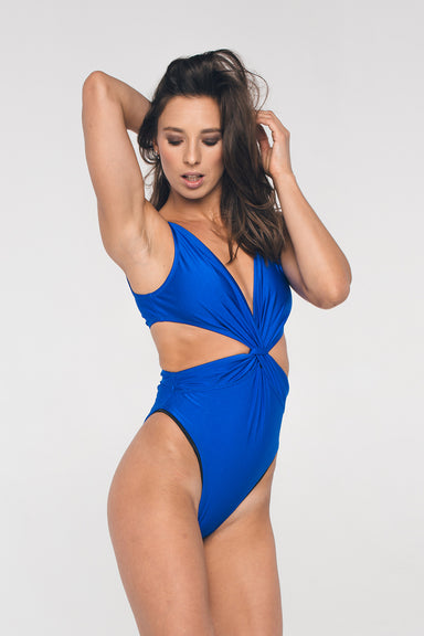 Shark Polewear Twist Bodysuit - Royal Blue-Shark Polewear-Pole Junkie