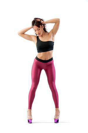 V-String Leggings - Cherry-Paradise Chick-Pole Junkie