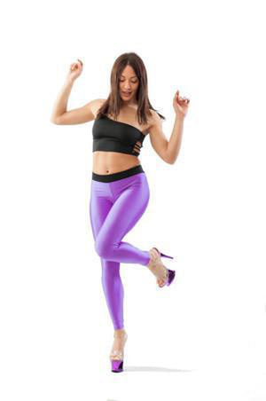Paradise Chick V-String Leggings - Purple-Paradise Chick-Pole Junkie