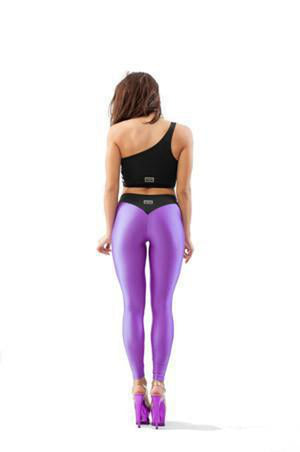 V-String Leggings - Purple-Paradise Chick-Pole Junkie