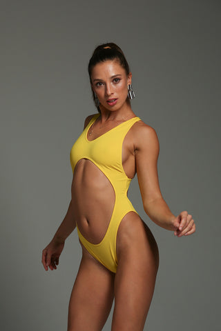 Vashkelita Bodysuit - Yellow-Shark Polewear-Pole Junkie