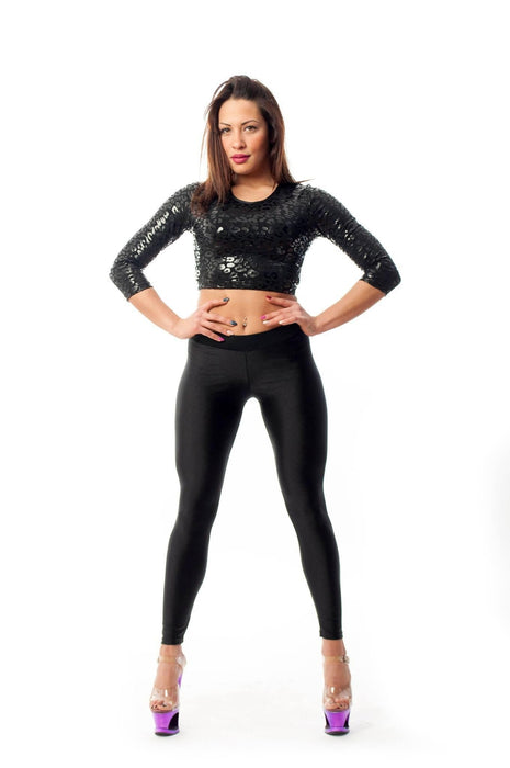 V-String Leggings - Black-Paradise Chick-Pole Junkie