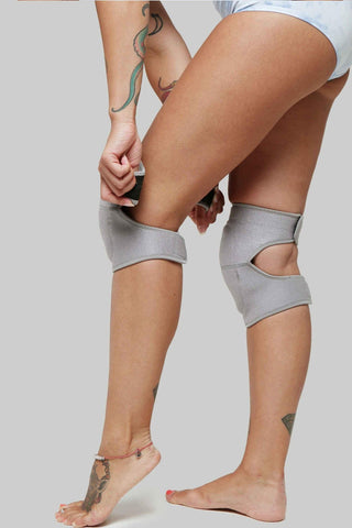 Velcro Knee Pads - Grey Wolf-Creatures of XIX-Pole Junkie