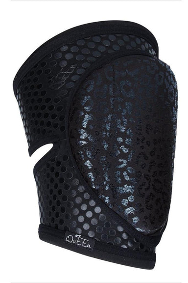 Queen Grippy Kneepads - Wild Black-Queen Accessories-Pole Junkie