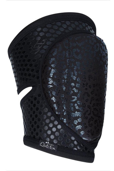 Grippy Kneepads - Wild Black-Queen Accessories-Pole Junkie