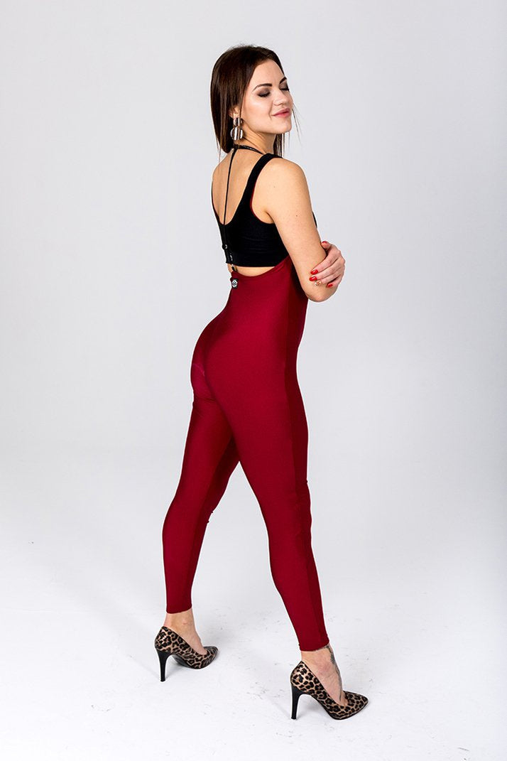 Shark Polewear Sling Leggings - Wine-Shark Polewear-Pole Junkie