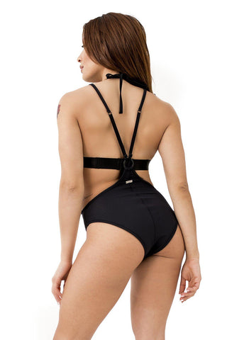 Womankini Shorts - Black-Paradise Chick-Pole Junkie