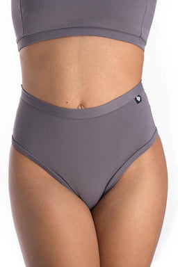 Poledancerka X High Leg Shorts - Grey-Poledancerka-Pole Junkie