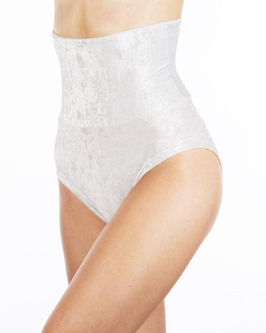 Velvet Betty High-Waisted Shorts - Silver-Dragonfly-Pole Junkie