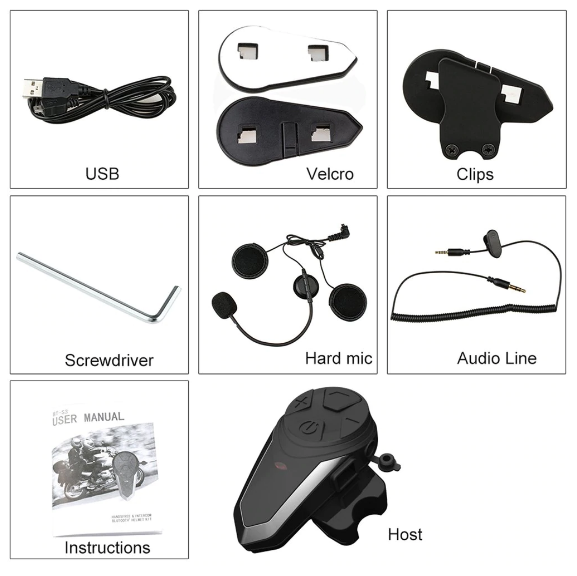 Bluetooth Cell Headset for Hang Gliding Helmets v3