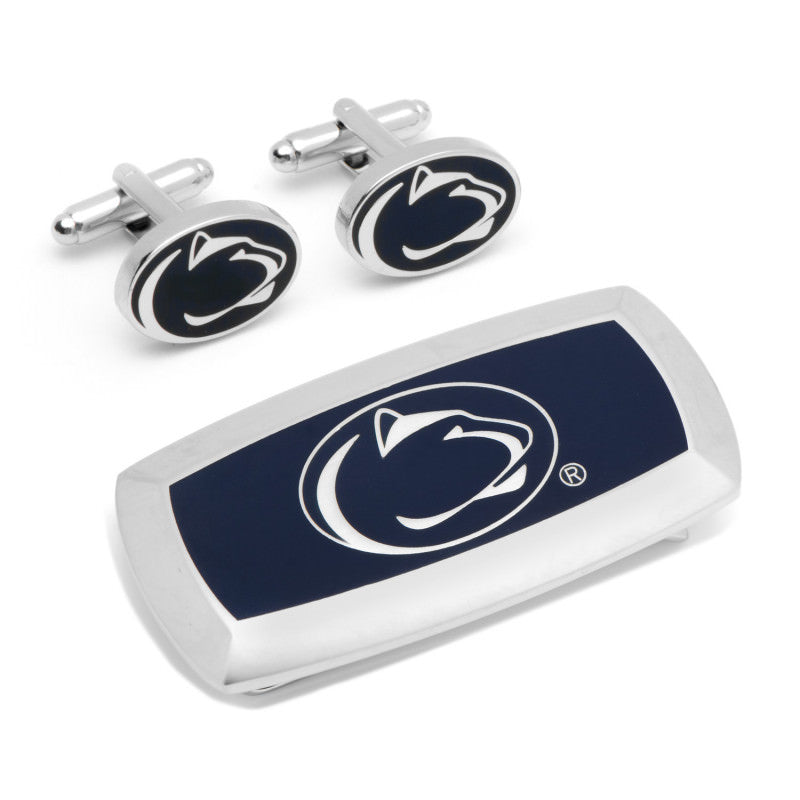 Penn State Nittany Lion Cufflinks and Cushion Money Clip Set