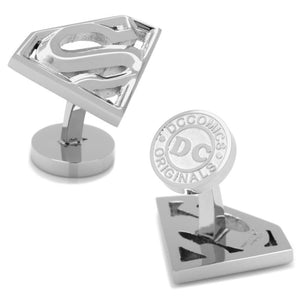 Superman Stainless Steel Cufflinks and Tie Bar Gift Set