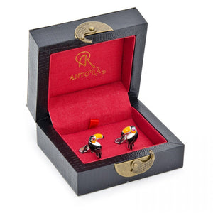 Handcrafted Italian Tucan Bird Cufflinks