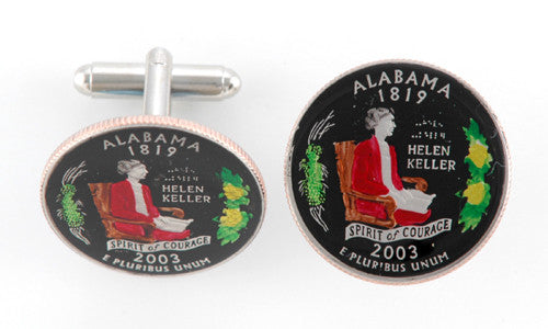 Alabama State Coin Cufflinks