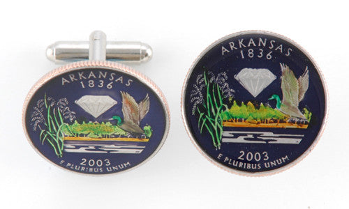 Arkansas State Coin Cufflinks