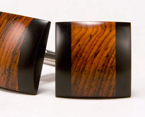 Cocobolo & Ebony Wood Cufflinks
