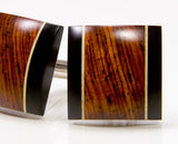 Cocobolo, Ebony, Holly Wood Cufflinks